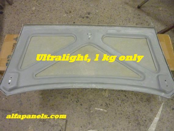 Ultra light lid only 1 kg. Click for information.